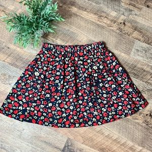Cooperative Skater Skirt Red Floral Size S